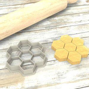 Nido d'ape Formina taglierina per biscotti | Honeycomb Cookie Cutter