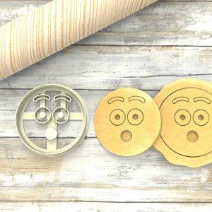 Faccina Emoji Ohh Formina taglierina per biscotti | Emoji Cookie Cutter