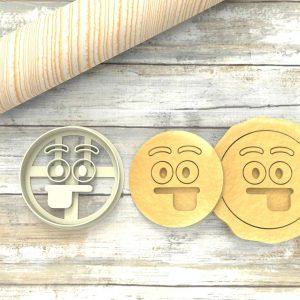 Faccina Emoji Lingua Formina taglierina per biscotti | Emoji Cookie Cutter