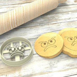 Faccina Emoji Triste a Formina taglierina per biscotti | Sad Emoji Cookie Cutter