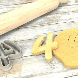 Numero 4 formina taglierina per biscotti |Number 4 Cookie Cutter
