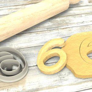 Numero 6 formina taglierina per biscotti |Number 6 Cookie Cutter