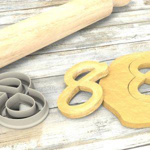 Numero 8 formina taglierina per biscotti | Number 8 Cookie Cutter