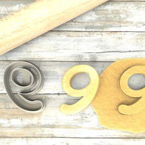 Numero 9 formina taglierina per biscotti   Number 9 Cookie Cutter