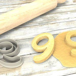 Numero 9 formina taglierina per biscotti | Number 9 Cookie Cutter