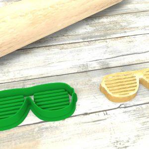 Occhiali a righe taglierina per biscotti formina | American Glasses Cookie Cutter