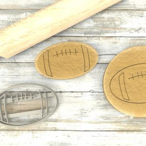 Pallone Rugby Cookie Cutter