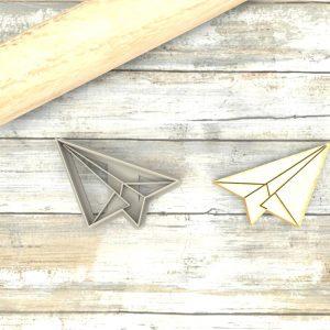Aeroplano origami formina taglierina per biscotti | Airplane Origami Cookie Cutter