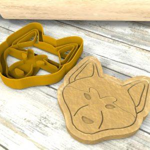 Akita Inu formina per biscotti