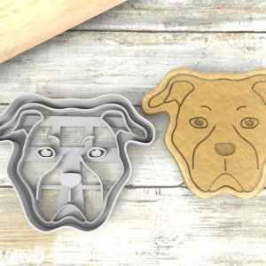 Bulldog Americano cookie cutter