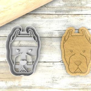 Dogo Argentino cookie cutter