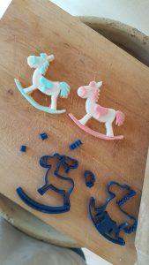Cavallo a dondolo set tagliapasta montabile 8 pz-foto1