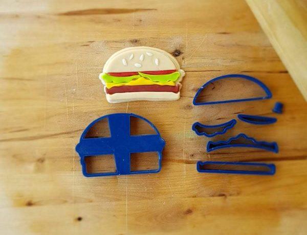 Tagliapasta panino Hamburger Set 7 pz.