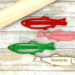 Tagliapasta Pesce acciuga personalizzabile con nome