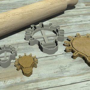 Lampadina stampo per biscotti