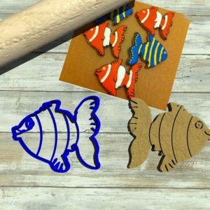 Pesce colorato taglia biscotti