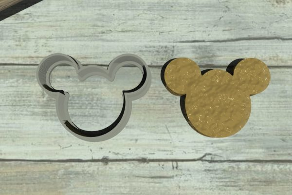 Topolino formina semplice per biscotti Mickey Mouse