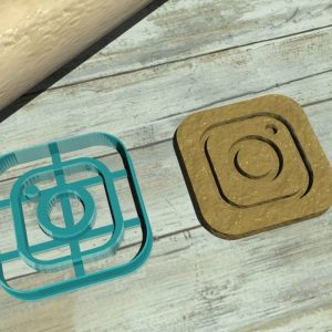 Instagram logo cookie cutter