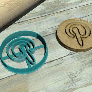 Pinterest logo cookie cutter