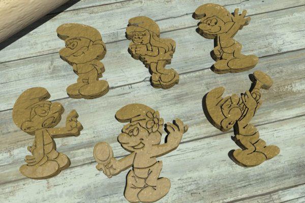 The Smurfs cookie cutters - Taglierine per biscotti dei Puffi
