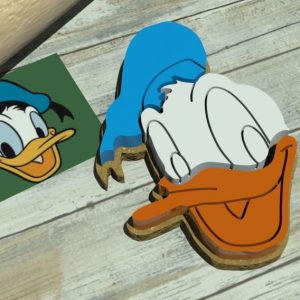 Paperino Formina biscotti Donald Duck