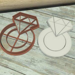 Tagliabiscotti diamante con anello