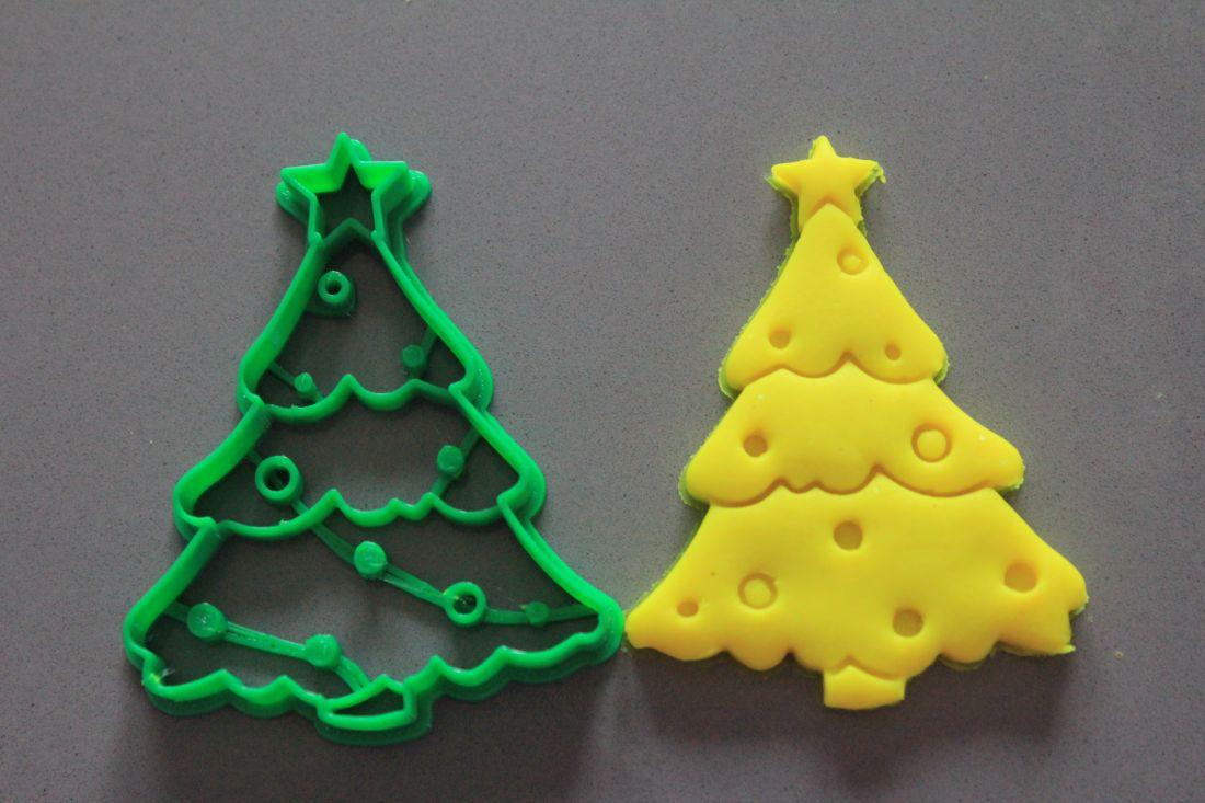 Biscotti Albero Di Natale 3d.Albero Di Natale Con Luci Formina Biscotti