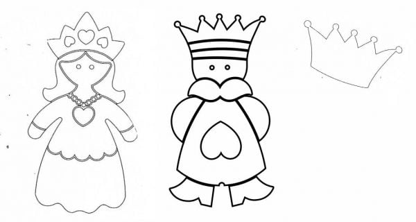 Formine biscotti Re regina fata