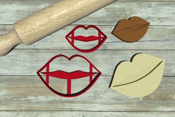 Kiss Bacio bocca formina biscotti