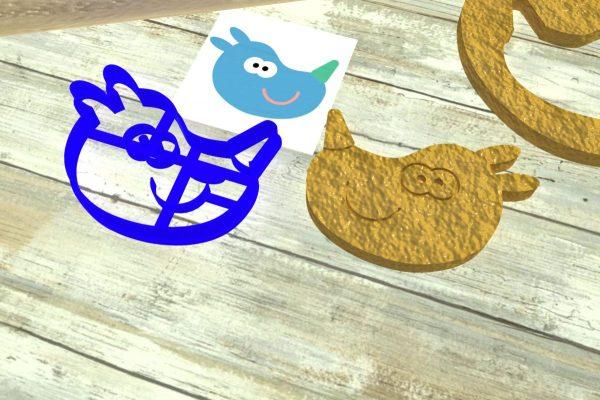 Hey Duggee Tag icing cookies