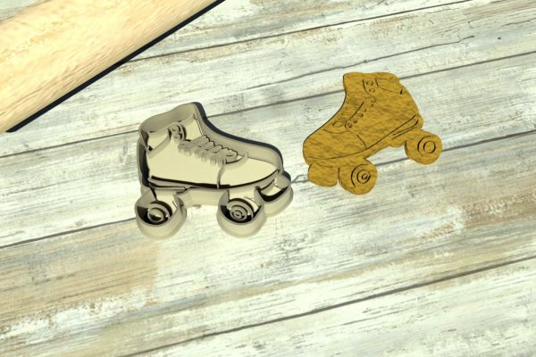 Skating cookie cutters
