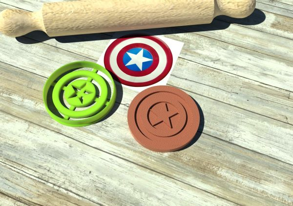 The Avengers Capitan America formine biscotti