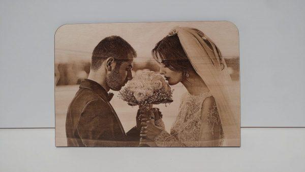 Foto su legno incisa laser