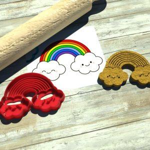 Arcobaleno nuvole formina biscotti