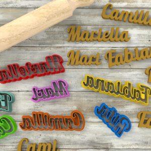 Biscotti a forma di nome