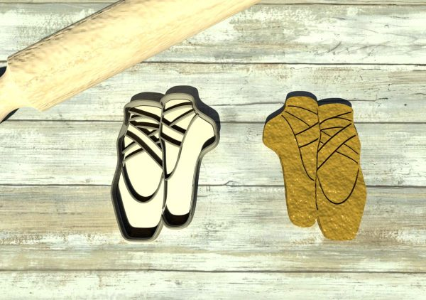 Ballet shoes cookie cutters