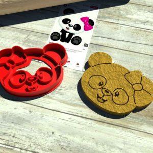 Panda testa formina biscotti