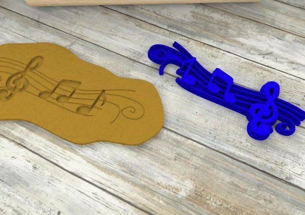 Chjave di violino tagliabiscotti