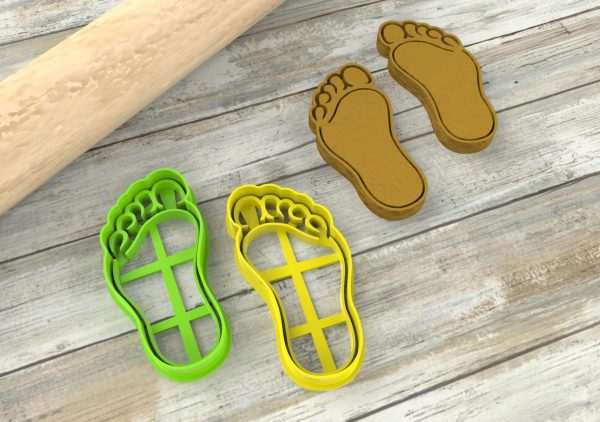 Foot cookie cutters