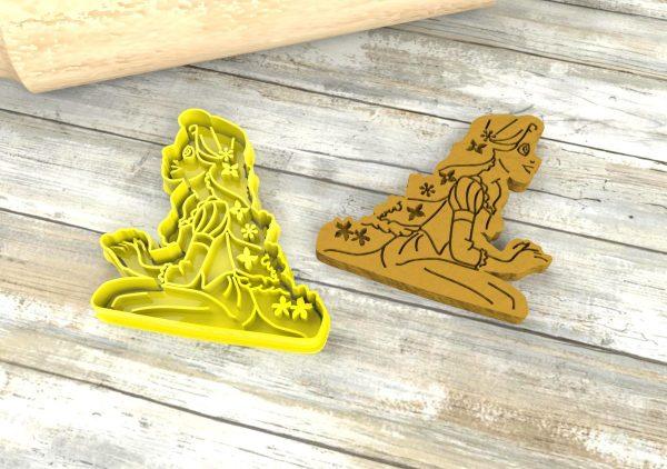 Rapunzel cookie cutter