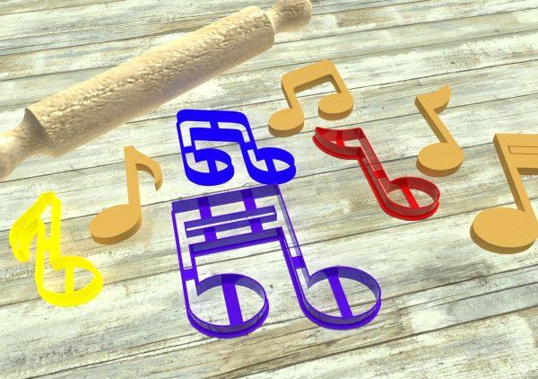 Note musicali formine per biscotti