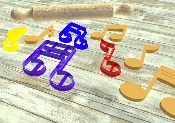 biscotti a forma di nota musicale