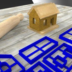 Casa biscotto tridimensionale formina