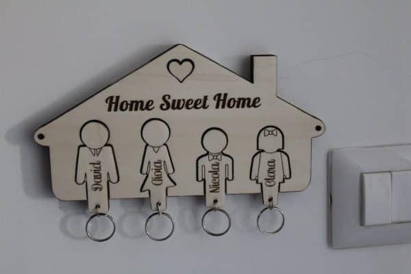 Appendi chiavi casetta legno portachiavi casetta legno personalizzata