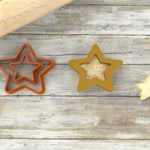 Biscotti stella ripieni nutella