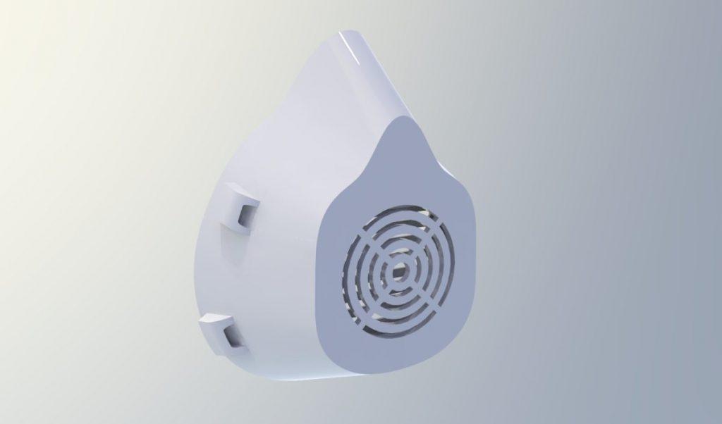 Mascherina COVID Speaker-bianco