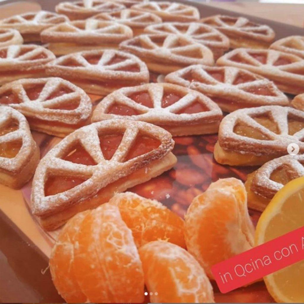 biscotti spicchi di limone o arancia