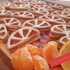 Biscotti spicchi di arancia