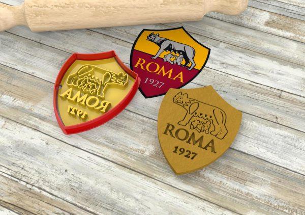 Roma 1927 formine per biscotti scudetto Lupa stampi biscotti cutter tagliapasta