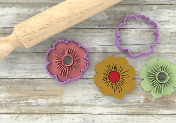 biscotti con il buco a forma di fiore